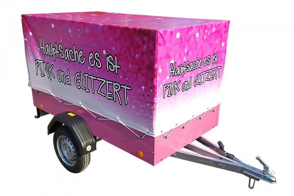 Hochplanen-Set EU2 800 mm pink Volldruck mit Motiv