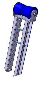 Kielrolle mit Flachhalterung 133 x Ø 79 mm, Länge 480 mm