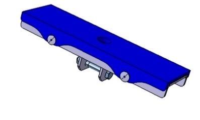 Langauflage 300 x 92 mm mit 1 Anschluss für Stütze 40 x 40 mm