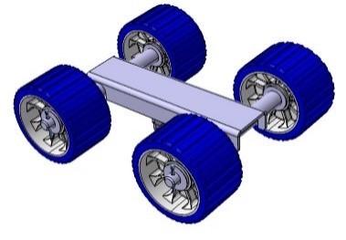 Vierfachrolle mit 1 Anschluss für Stütze 34 x 34 mm