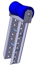Kielrolle mit Flachhalterung 133 x Ø 79 mm, Länge 360 mm