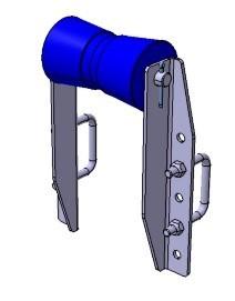 Kielrolle mit Winkelhalterung 133 x Ø 79 mm