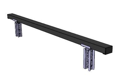 Brettauflage gepolstert 1.805 x 85 x 55 mm für Rahmen 40 x 40 mm