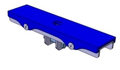 Langauflage 300 x 75 mm mit 1 Anschluss für Stütze 34 x 34 mm