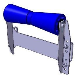 Kielrolle mit Winkelhalterung 305 x Ø 96 mm