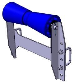 Kielrolle mit Winkelhalterung 259 x Ø 96 mm
